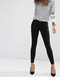 Черные джинсы скинни с заниженной талией ASOS Whitby - Чистый черный