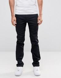 Черные узкие джинсы стретч Lee Rider - Cap black