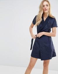 Платье в стиле милитари с запахом G-Star - Синий