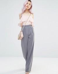 Широкие брюки с завязывающимся поясом Alter - Серый