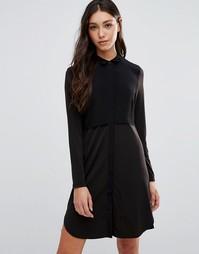 Платье-рубашка Pieces Pips - Черный
