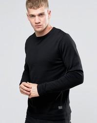 Базовый свитер с круглым вырезом Jack & Jones - Черный