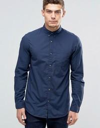 Рубашка на пуговицах с карманом Jack & Jones - Темно-синий