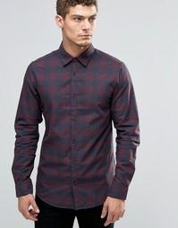 Рубашка в клетку Jack & Jones - Burgundy