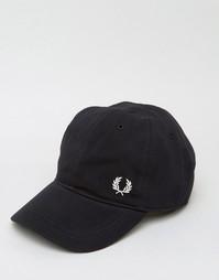 Бейсболка из ткани пике с логотипом Fred Perry - Черный