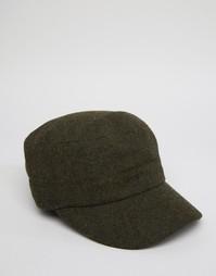 Шерстяная кепка Fred Perry - Зеленый