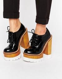 Массивные туфли на каблуке и платформе Jeffrey Campbell