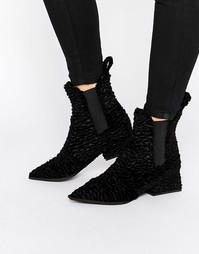 Бархатные ботинки челси с острым носком Jeffrey Campbell