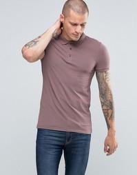 Фиолетовая облегающая футболка-поло ASOS - Фиолетово-серый