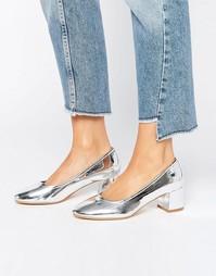 Туфли на среднем каблуке Truffle - Серебристый полиуретан