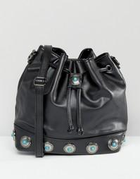 Черная сумка-мешок в стиле вестерн Glamorous - Черный