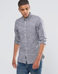Рубашка переплетения рогожка Selected Homme - Черничный