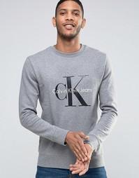 Свитшот в стиле 90‑х Calvin Klein Jeans - Серый вереск