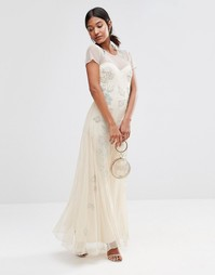 Платье макси с декоративной цветочной отделкой Boohoo Boutique