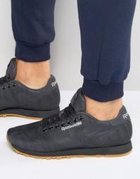 Жаккардовые кроссовки Reebok Classic - Черный