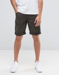 Джинсовые облегающие шорты цвета хаки ASOS - Хаки