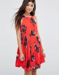 Платье Free People Flutterby - Вишневый микс