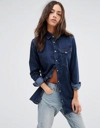 Джинсовая рубашка бойфренда G‑Star Tacoma - Синий