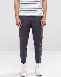 Суженные книзу брюки с отворотами Selected Homme - Серый