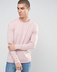 Легкий облегающий розовый свитшот ASOS - Розовая пыль