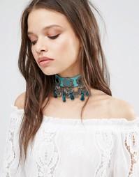 Броское ожерелье-чокер с кисточками Glamorous - Мульти