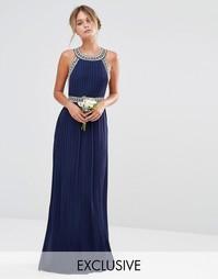 Декорированное платье макси TFNC WEDDING - Темно-синий