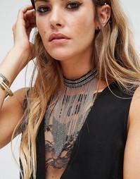 Эффектное короткое ожерелье Glamorous - Мульти