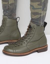 Кожаные ботинки на шнуровке G-Star Roofer - Зеленый