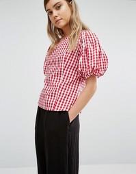 Блузка в клеточку Style Mafia - Красный