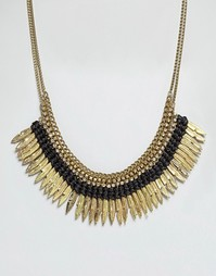 Ожерелье с перьями Raga - Черный
