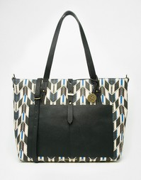 Сумка-шоппер с принтом Fiorelli - Winter stripe