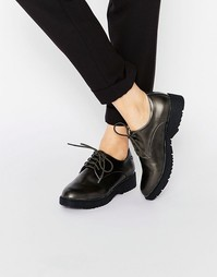 Туфли на толстой подошве со шнуровкой Blink - Gunmetal