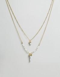 Ярусное ожерелье с камнем Ashiana