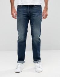 Прямые джинсы в винтажном стиле Diesel Buster 857Y - Темный потертый