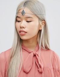 ASOS Filigree Rose Hair Crown - Родий