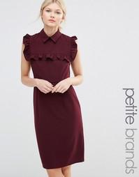 Платье-футляр с оборками на груди Alter Petite - Burgandy