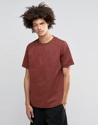 Плотная стираная футболка ASOS - Красно-бурый