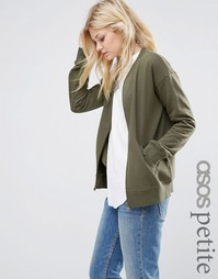 ASOS PETITE The Ultimate Bomber Jacket In Jersey - Хаки