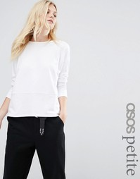 ASOS PETITE Long Sleeve Baby Loopback Top - Белый