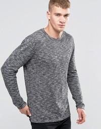 Меланжевый вязаный джемпер с круглым вырезом Jack & Jones - Серый