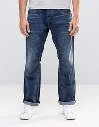 Темно-синие выбеленные джинсы свободного кроя Jack & Jones