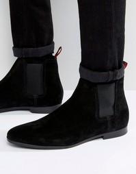 Замшевые ботинки челси BOSS By Hugo Boss Paris - Черный