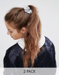 Набор из 2 трикотажных резинок для волос ASOS Basics - Мульти