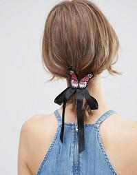 Заколка для волос с бабочкой ASOS - Черный