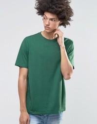 Weekday Frank Overdye Longer sleeve T-Shirt - Green melange