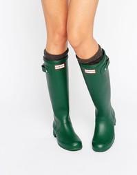 Зеленые резиновые сапоги Hunter Original Tour Hunter