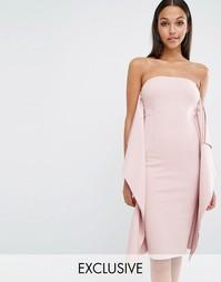 Платье до колен AQAQ Ultran - Приглушенный розовый