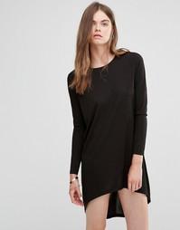 Платье-туника с асимметричной кромкой J.D.Y - Черный JDY