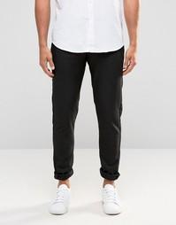 Стретчевые суперзауженные брюки Selected Homme - Угольный