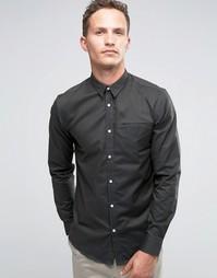 Строгая рубашка из 100% хлопка Selected Homme - Темно-зеленый